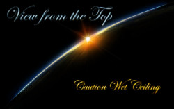Caution Wet Ceiling – View From the Top artwork