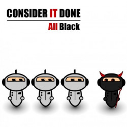 Consider it Done – All Black artwork